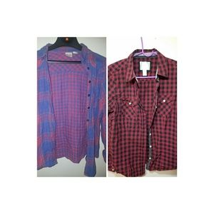 💫 TWO FLANNELS SIZE LARGE 💫